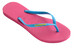 havaianas Slim Logo teenslippers Dames roze